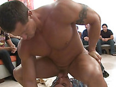 These horny boys up turns sucking cock